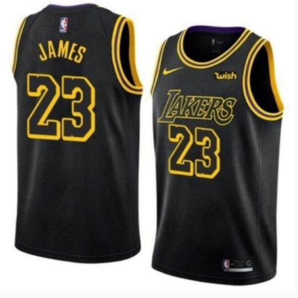 Nike Shirts | Nba Lakers Lebron James Black City Edition Jersey ...